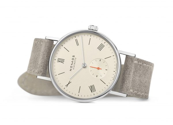 Nomos Ludwig 33 Champagne (ref 247/48) - on its side