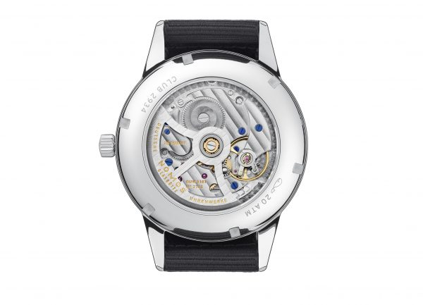Nomos Club Automatic Date Siren Blue (ref 777) - back view