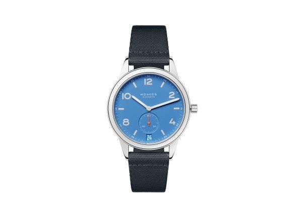 Nomos Club Automatic Date Siren Blue (ref 777) - showing strap