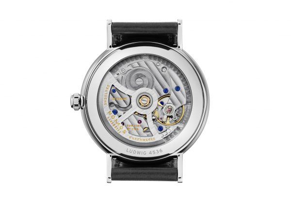 Nomos Ludwig Automatic Date (ref 271) - rear view