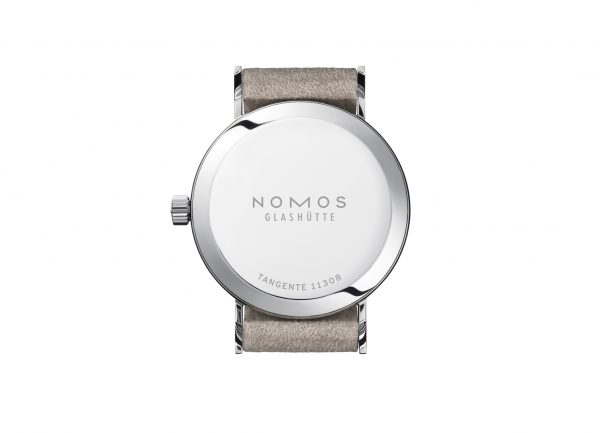 Nomos Tangente 33 Champagne (Ref 150) - rear view