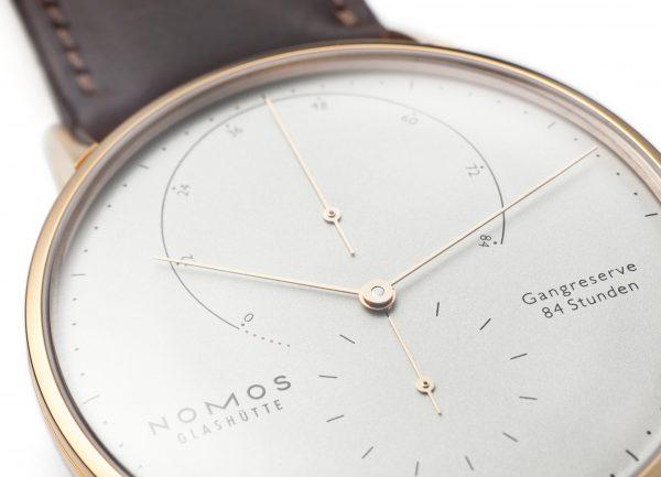 Nomos Lambda Rose Gold (Ref 930) - close-up