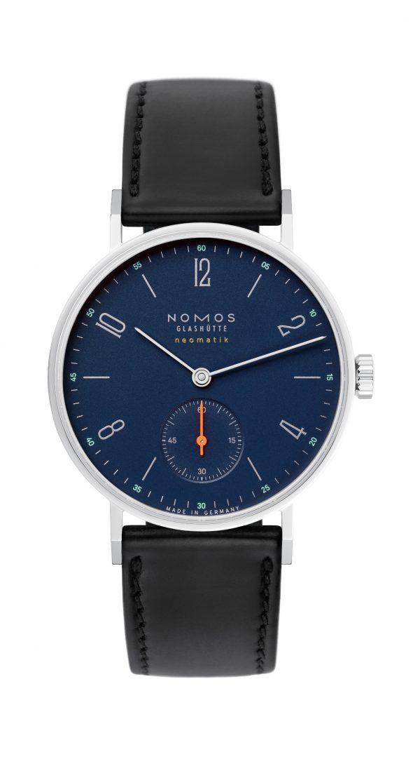Nomos Tangente Neomatik Midnight Blue (ref 177) - showing strap