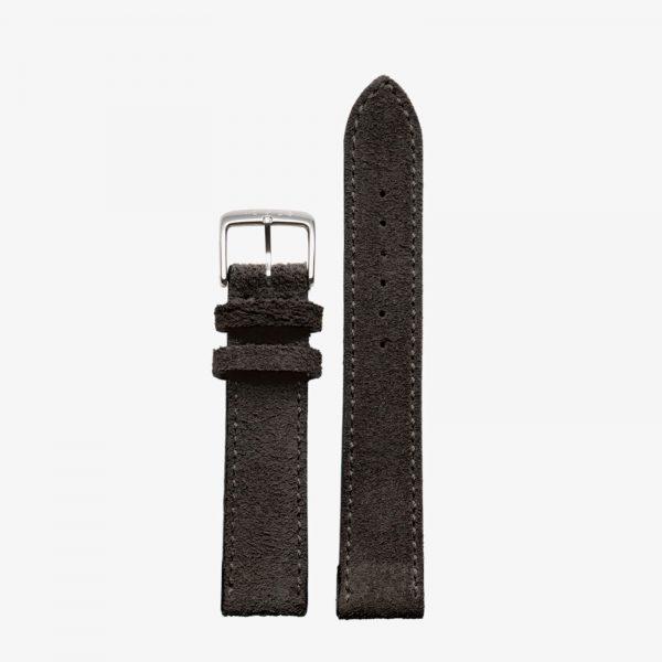 Nomos Velour Leather Strap - Anthracite