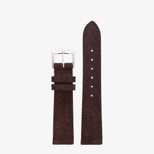 Nomos Velour Leather Strap - Brown