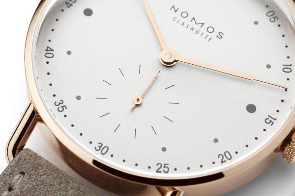 Nomos Metro Rose Gold 33 ref 1170 close-up 1